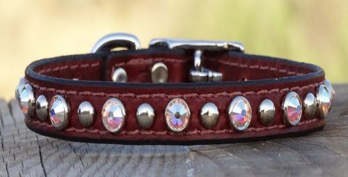 Glam-City-leather-dog-collar-with Swarovski-element-crystals