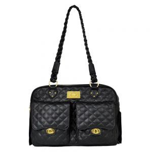 Dog Carrier - Black quilted