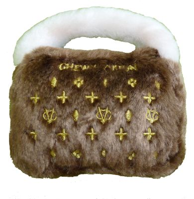 Brown_Chewy_Vuiton_Toy Squeaker Toy for dogs
