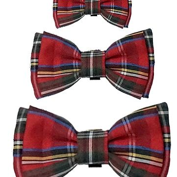Christmas Plaid Bow Tie for dogs