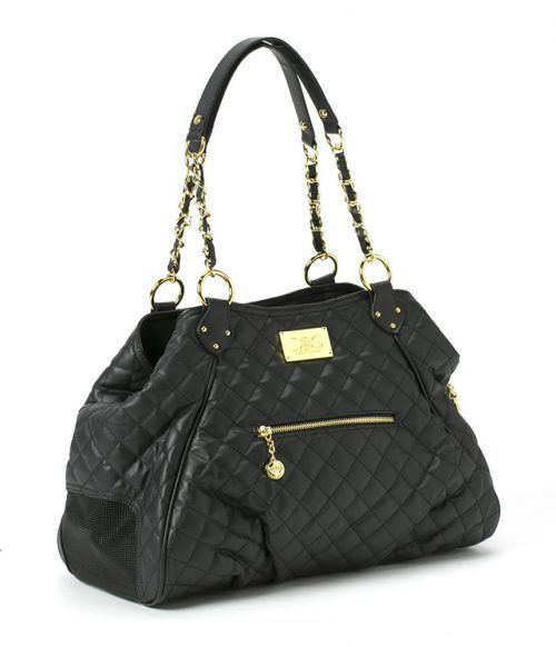 Dog Carrier - classic black tote