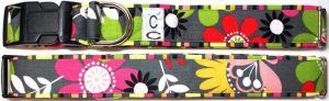 Garden Party fabric dog collar Cutie Collars