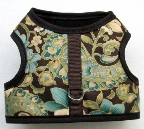 Velcro Vest dog Harness-Madagascar-w-Chocolate-Binding