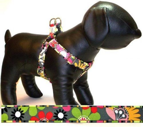 Garden Party fabric dog harness Cutie Collars