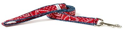 Cowboy fabric dog leash lead Cutie Collars