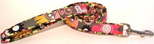Garden Party fabric dog leash lead Cutie Collars