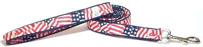 Leash Patriot fabric dog lead Cutie Collars