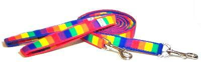 Leash Rainbow fabric dog lead Cutie Collars