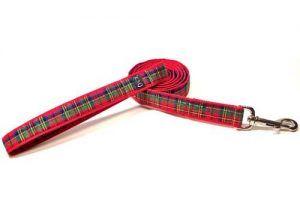 royal tartan plaid dog lead leash Cutie Collar