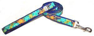 Leash Shalimar Flowers fabric dog Cutie Collars