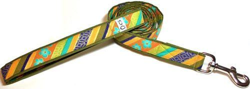Leash Shalimar Stripe fabric dog lead Cutie Collars