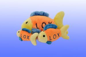 Lox_Fish Toy Chewish dog squeaker toy