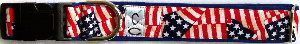 Patriot fabric dog collar cutie collars
