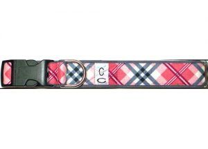 Cutie-Collar-Peppermint Twist-pink-plaid-dog-collar