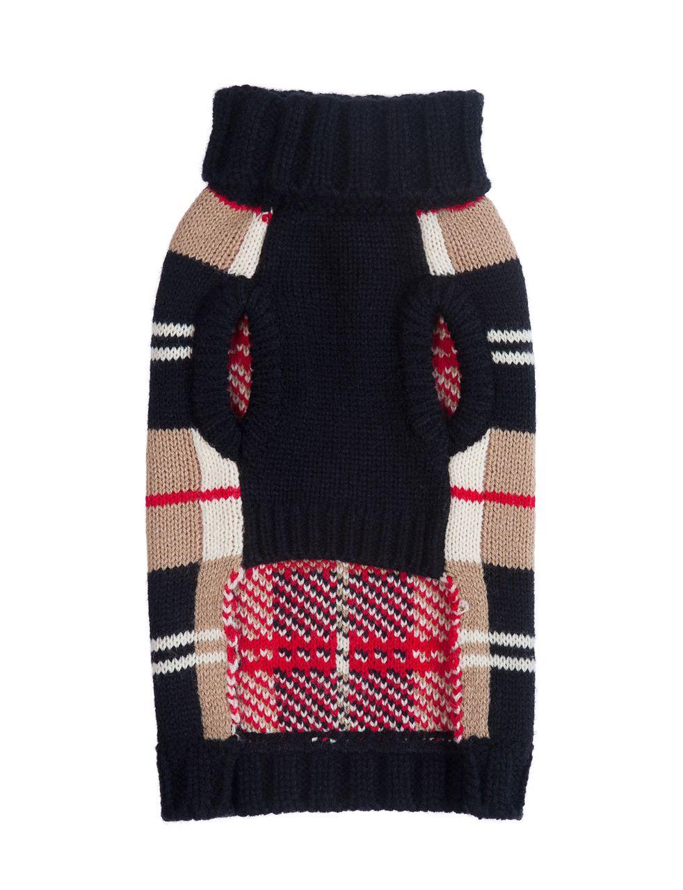 Fab Dog Tan Plaid dog sweater by Fab Dog