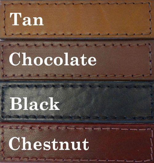 Glam-City-Dog Collars-latigo-leather-colors-chart