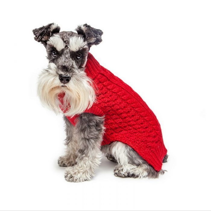 Super Chunky Red dog sweater by Fab Dog