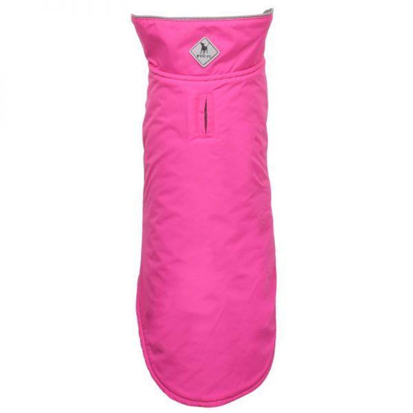 nylon dog jacket coat hot pink by worthy dog