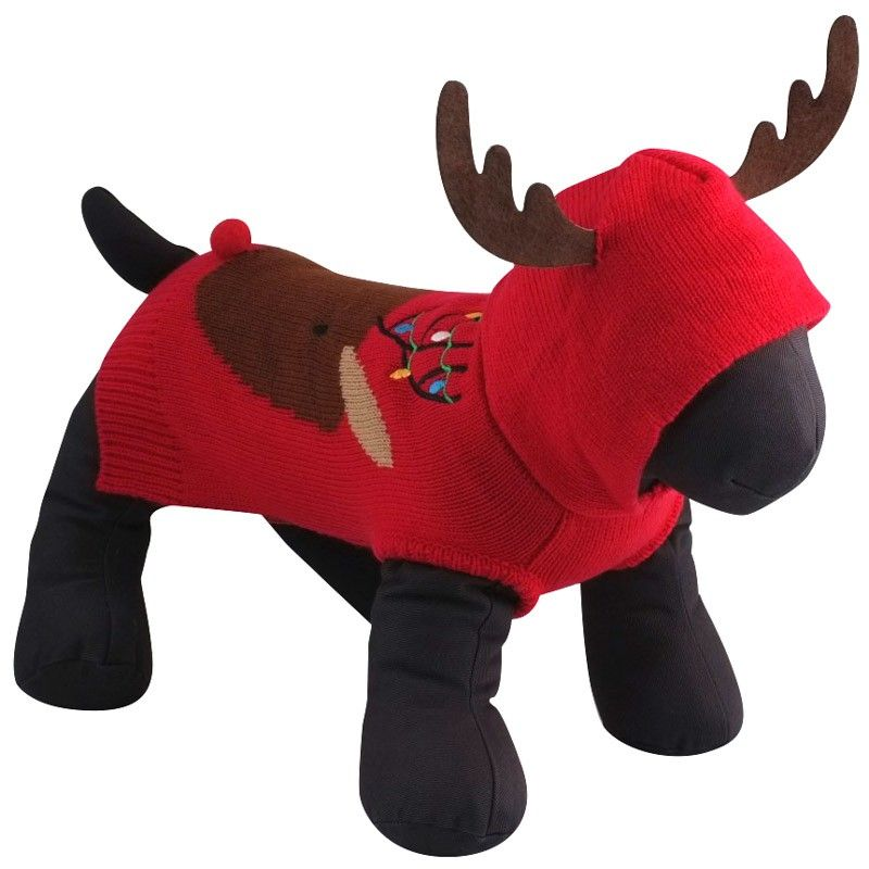 Dog-Sweater- Hoodie-Rudy-Reindeer