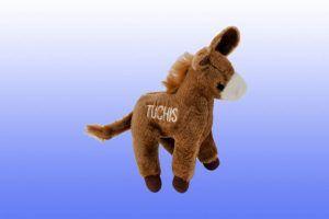 Tuchis_Mule-Chewish dog squeaker toy