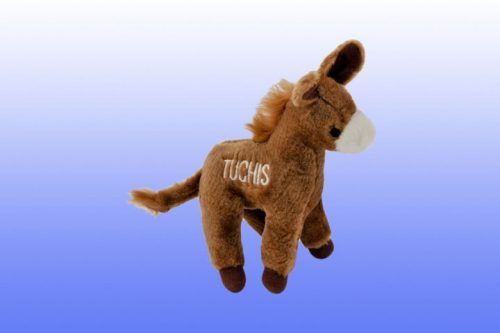 Tuchis_Mule-Chewish dog squeaker toy