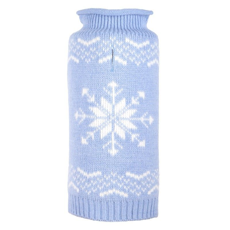 Dog Sweater-Snowflake_Icy_Blue