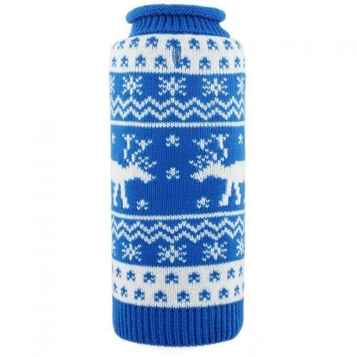 blue reindeer roll neck sweater by worthy dog