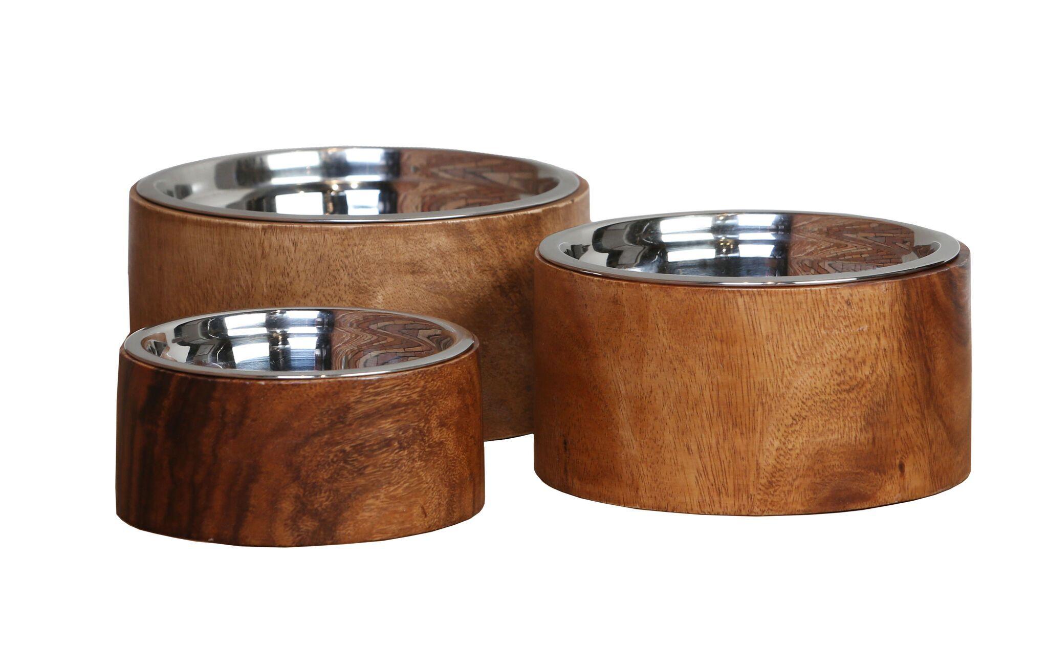 Dog Bowls Anderson Acacia Wood Raised Collection