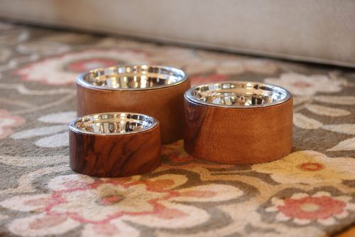 Acacia wood bowls for dogs