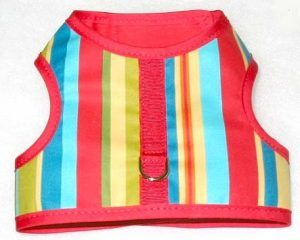 beach-fun-stripe-velcro-vest dog harness