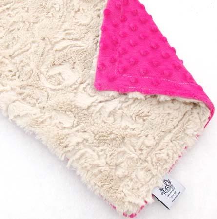 beige-pink-dots-dog-binkey-blanket