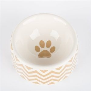 creature comfort chevron-dog bowl