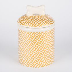 creature comfort gold-trellis-dog treat jar