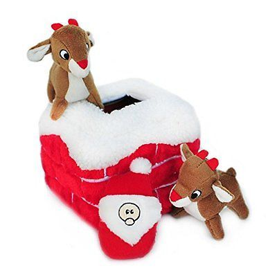 ZippyPaws holiday chimney burrow dog toy
