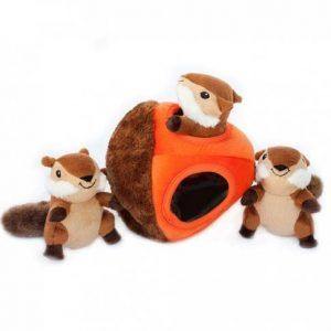 zippypaws-chipmunk-acorn-burrow-dog-toy