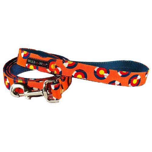 walk-e-woo colorado-orange-leash lead