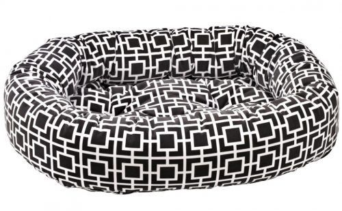 Bowers Dog donut bed courtyard grey