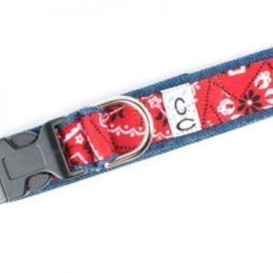 cowboy fabric dog-collars Cutie Collars