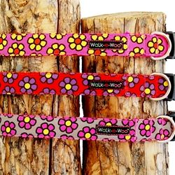 walk-e-woo daisies dog collars