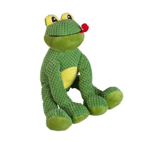 FabDog floppy frog dog toy