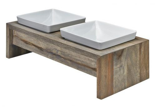 Bowsers Double Wood Feeder - fossil