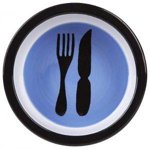 Melia dog bowl-knife-fork-bowl