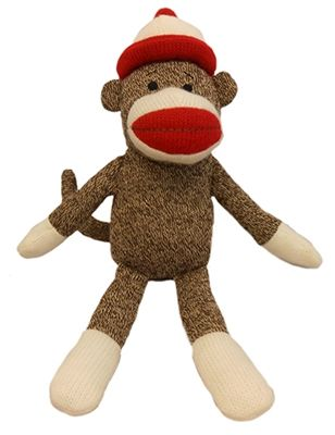 Baby Sock Monkey Koko dog toy
