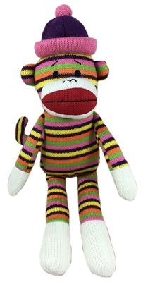 louie large sock monkey dog toy