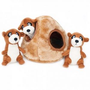 Zippypaws-Meer Kat-burrow-dog-toy