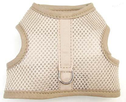beige mesh velcro vest Dog Harness