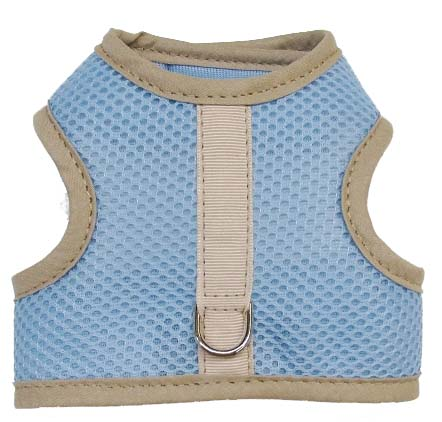 blue-mesh-beige-binding velcro vest dog harness
