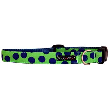 walk-e-woo-neon-dots-blue-green-dog-collar