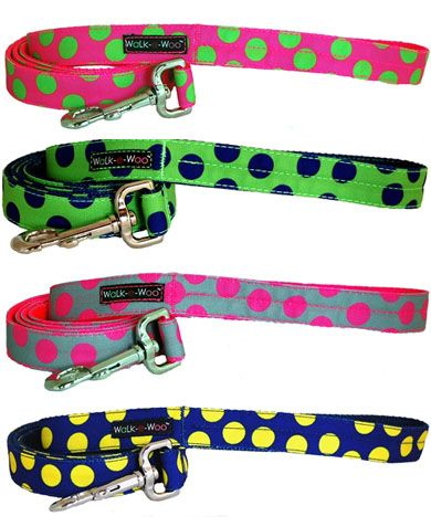 Dog-Lead-neon-dots-collection-leashes-wlak-e-woo