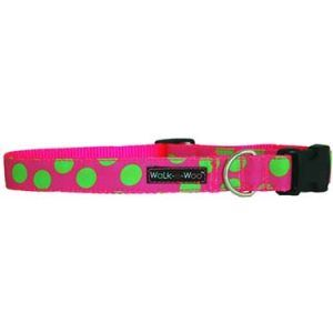 walk-e-woo-neon-dots-green-pink-dog-collar
